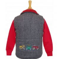 British Country Collection Tractor Appliqued Tweed Gilet